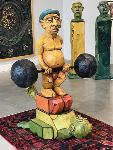 sculpture, heads, Tronies, dumbbell, circus act, michelle post