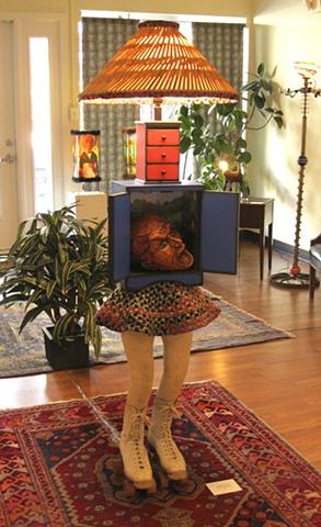 Michelle Post, lamps, art, sculpture, popsicle sticks, shaker furniture