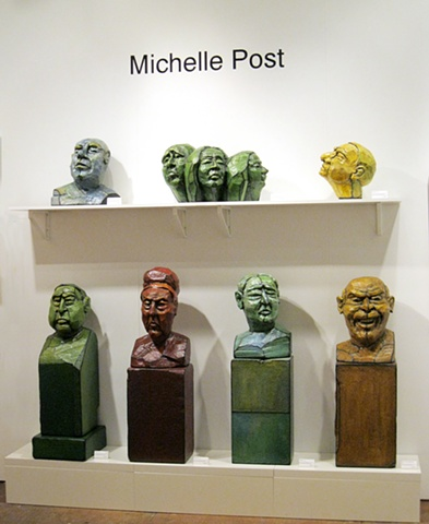 Red Dot Art Fair Tronies heads sculpture Miami Art Basel Michelle Post