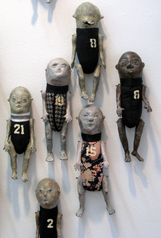 "Pam Lethbridge ""Wall Dolls"" detail"