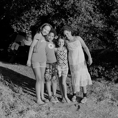 Cousins, - Jana, Kadiatou, Emma and Miriam, Malibu Creek, 2012