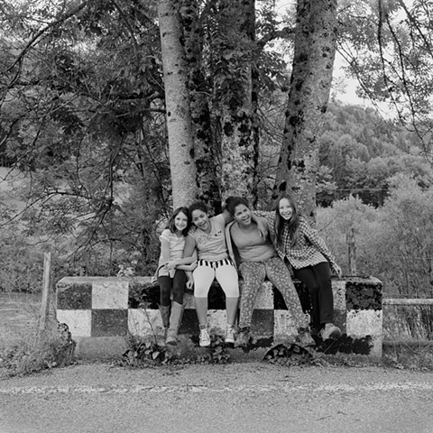 Cousins - Emma, Kadiatou, Miriam and Jana, Soubey, Switzerland, 2014