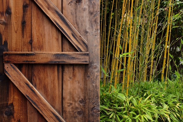Deetjen's Door and Bamboo