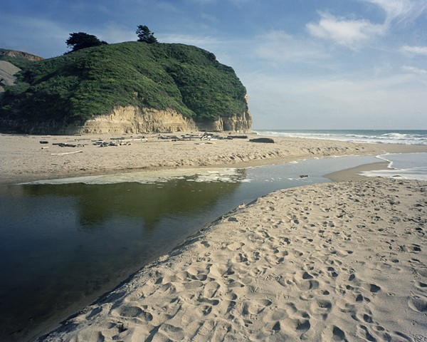 Mouth of Pomponio Creek, Pomponio State Beach, San Mateo County, 2000