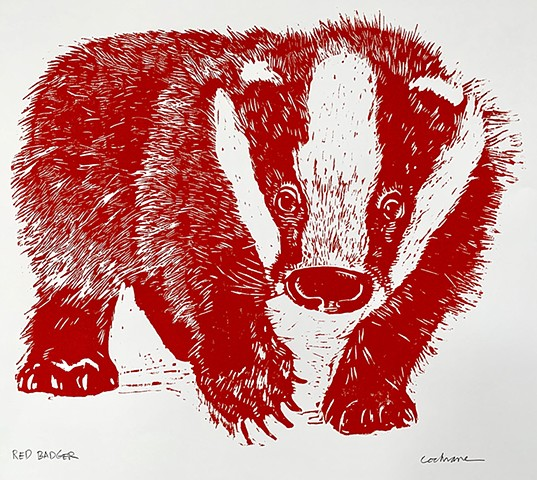Red Badger woodcut