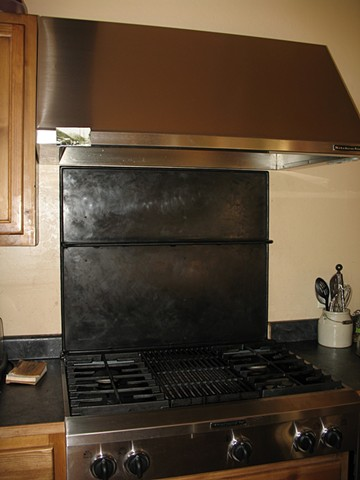 Stove Backsplash welding blacksmithing Rico CO