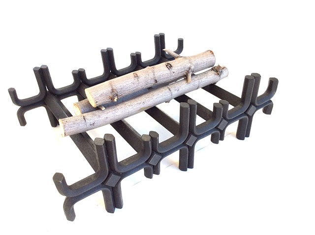 forged log grate Fireplace accessories
