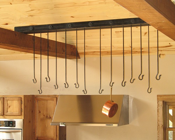 Pot Rack Forged Hammer Texture Rico Co