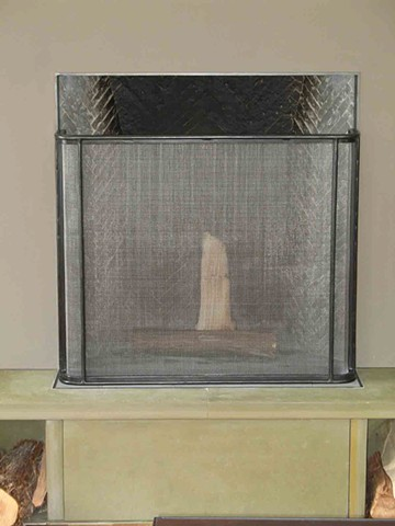 Fireplace screen Pika House Selldorf Architects