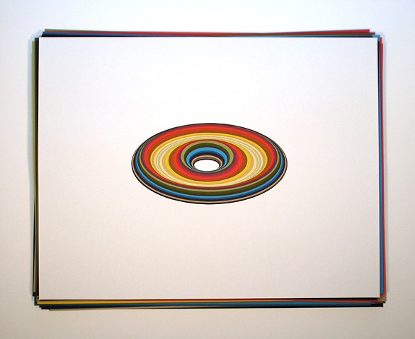 Artist Adam David Brown, Ellipse, Cut Paper