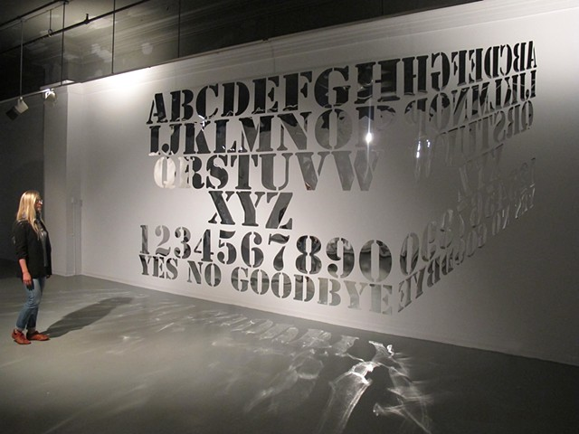 Artist Adam David Brown, Mirror Mirror, Mirrored Ouija Board