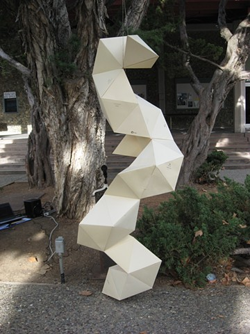 Student Work Large Scale Site Specific Project, Beginning Sculpture Gavilan College