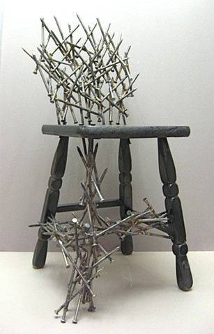 Student Work, Altered Chair Project, Beginning Sculpture, Mission College