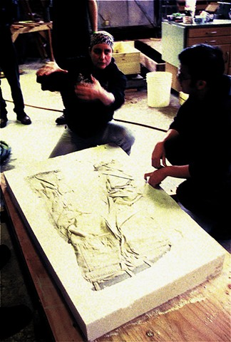 Student Work Pair of Pants, large scale sand mold workshop for , Sonoma State University