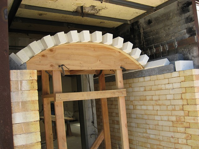 Kiln Under Construction CSU Stanislaus