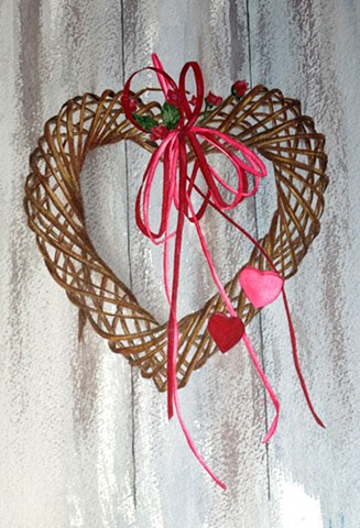 Valentine wreath in watercolor