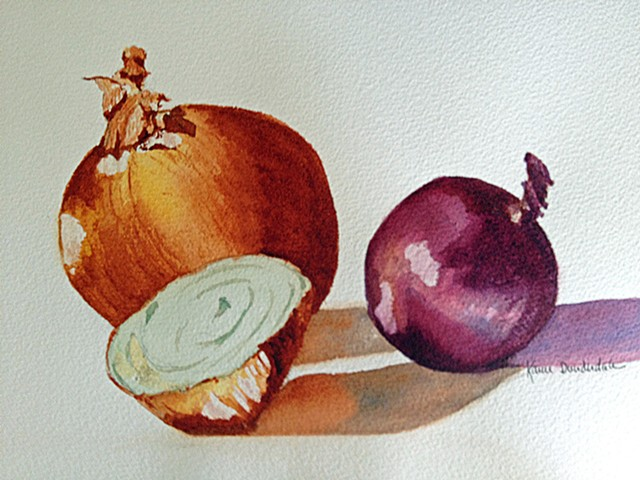 Onions in watercolor