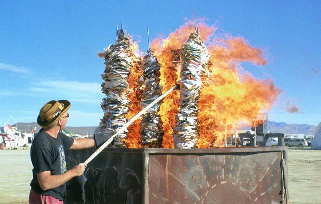 Ivory Towers Burn Burning Man Festival, Nevada