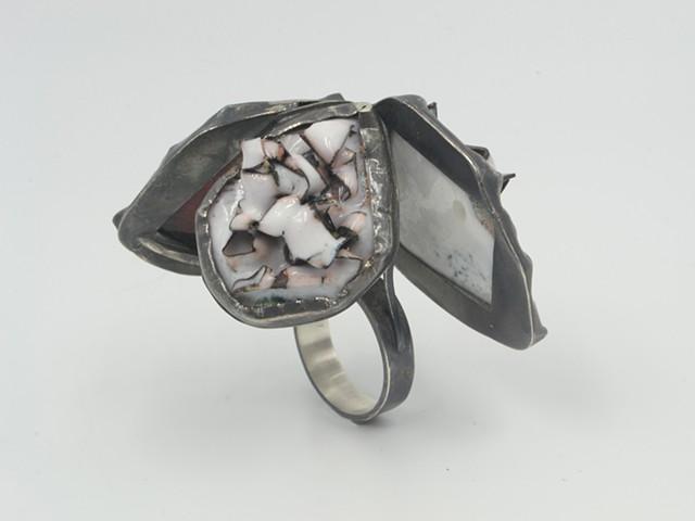 Three Piece Copper Mache Ring