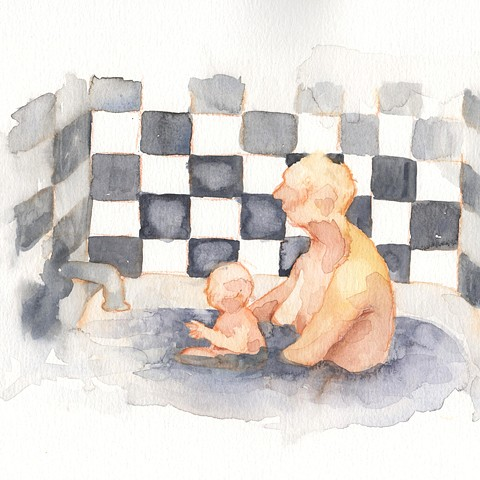 Bathing with Baby