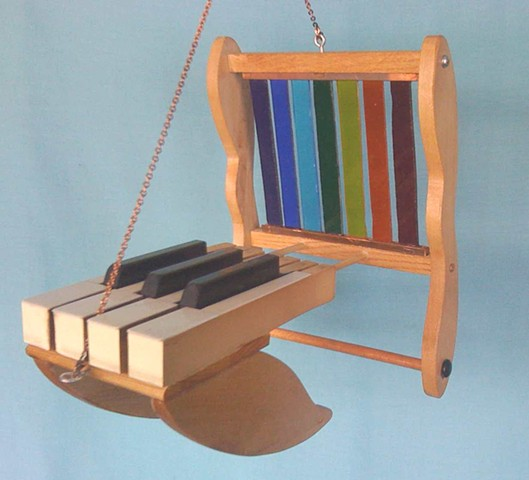 Hanging Piano Key Sculpture Synesthesia