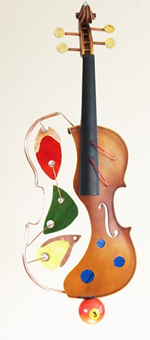 Hanging Violin Sculpture
