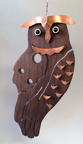 Hanging Owl Sculpture