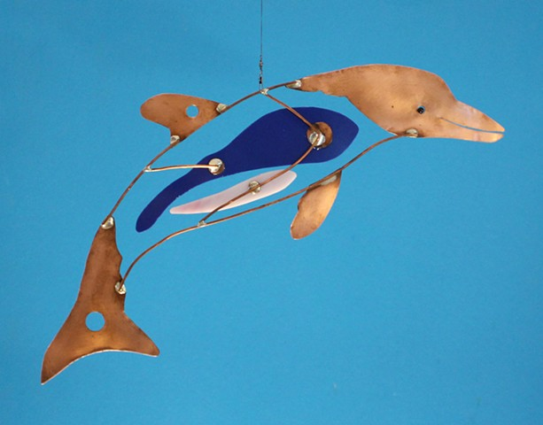 Hanging Dolphin Sculpture