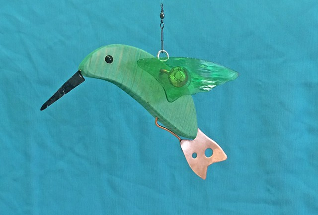Hanging Hummingbird Sculpture.