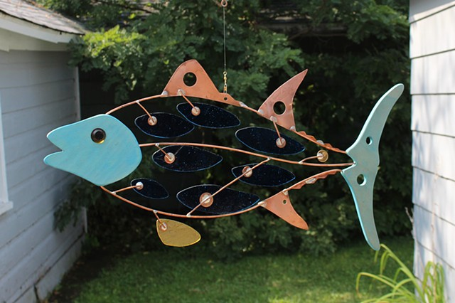 Hanging Tuna Sculpture