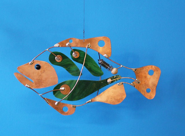 Hanging Largemouth Bass Sculpture