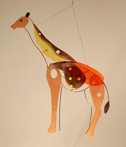 Hanging Giraffe Sculpture
