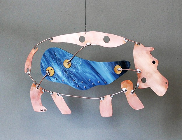 Hanging Hippo Sculpture
