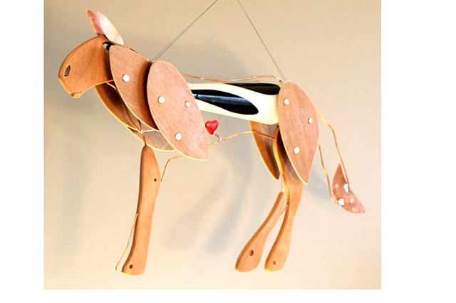 Hanging Horse Sculpture