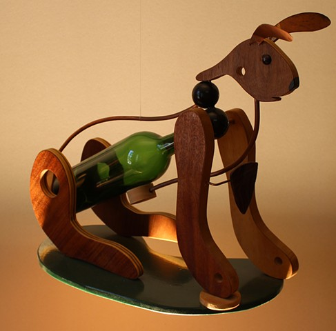 Upcycled rabbit sculpture.