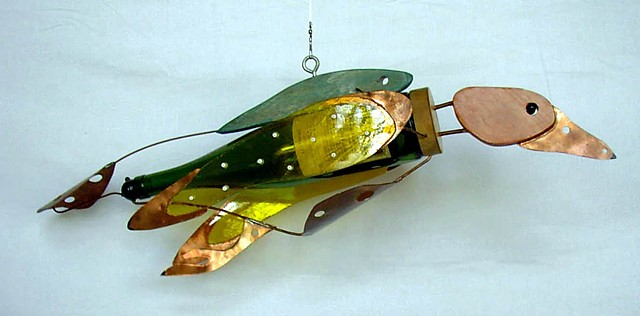 Multimedia Sculpture, Bird Sculpture, Abstract Bird Sculpture