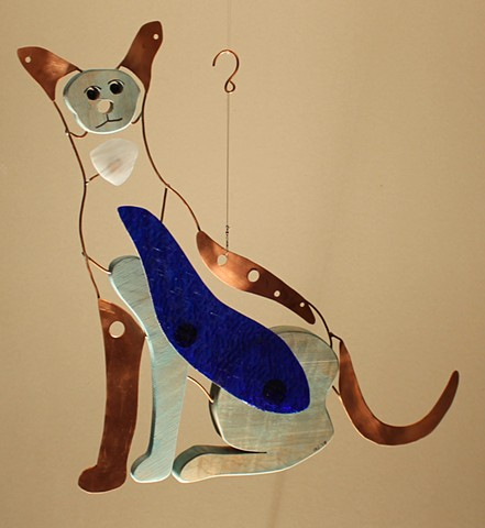 Hanging Cat Sculpture