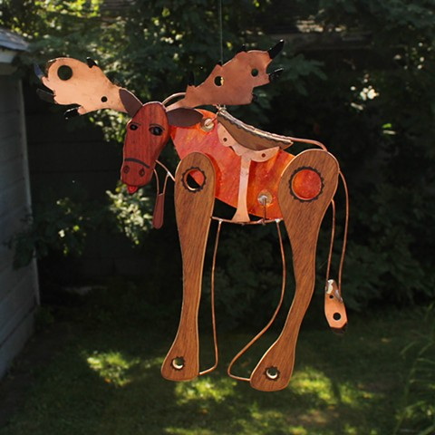 Hanging Moose Sculpture