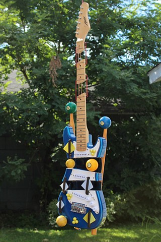 Upcycled Electric Guitar Sculpture