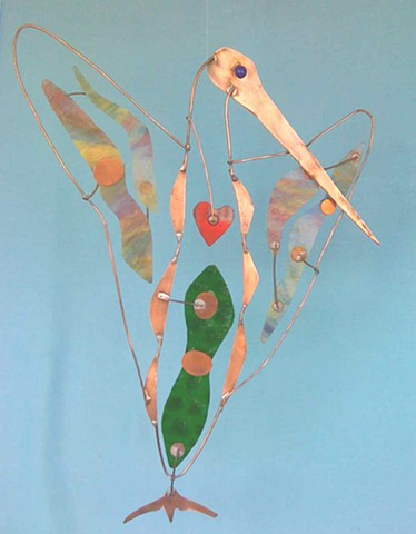 Hanging Bird Sculpture,  Conductor Bird.