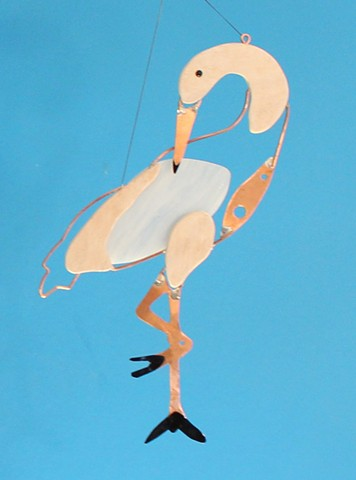White Egret Hanging Sculpture