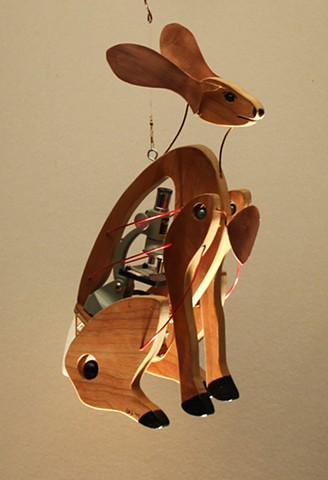 Hanging Jackrabbit Sculpture