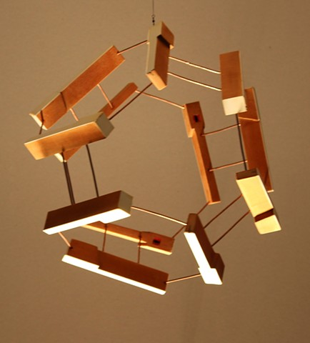Hanging Piano Key Sculpture