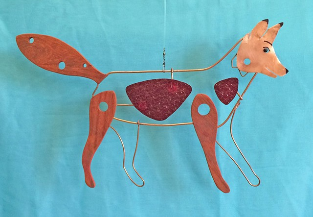 Hanging Fox Sculpture