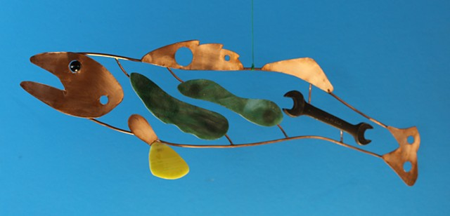 Hanging Walleye Sculpture