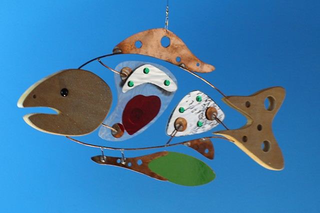 Hanging Fish Sculpture