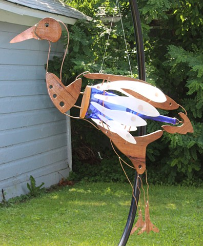 Large Crane Sculpture