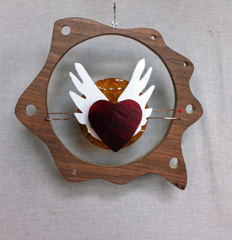 Hanging Heart Sculpture