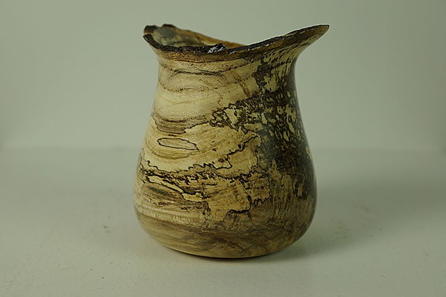 Hackberry fluted vessel