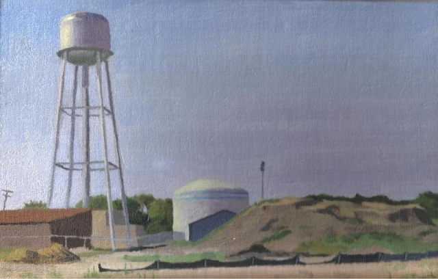 Round Lake Municipal Watertowers and Dirt Pile